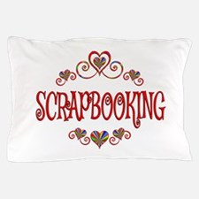 Scrapbooking Hearts Pillow Case