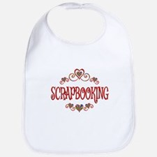 Scrapbooking Hearts Bib