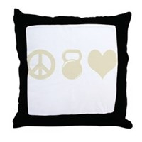Peace Weight Love Throw Pillow