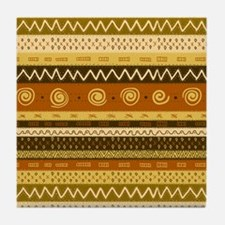 African Ethnic Pattern Tile Coaster