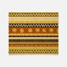 African Ethnic Pattern Throw Blanket