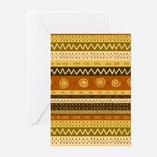 African Ethnic Pattern Greeting Cards