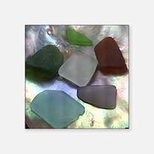 """Sea Glass Square Sticker 3"""" x 3"""""""