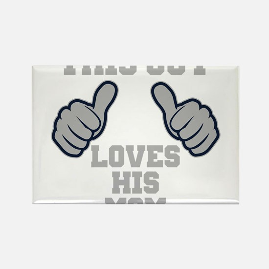 This Guy Loves His Mom Rectangle Magnet (100 pack)