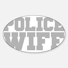 Police Wife Sticker (Oval)