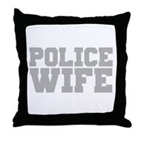Police Wife Throw Pillow