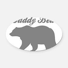 Daddy Bear Oval Car Magnet