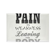 Pain Is Weakness Leavin Rectangle Magnet (10 pack)