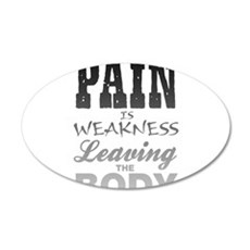 Pain Is Weakness Leaving The Wall Decal