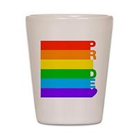 Gay Pride Rainbow Shot Glass