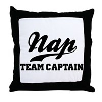 Nap Team Captain Throw Pillow