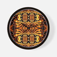 flames safari tribal pattern Wall Clock