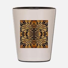 flames safari tribal pattern Shot Glass