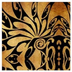 flames safari tribal pattern Poster