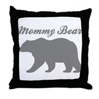 Mommy Bear Throw Pillow