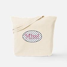 Mimi Navy and Pink Pretty Polka Dots Tote Bag