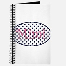 Mimi Navy and Pink Pretty Polka Dots Journal