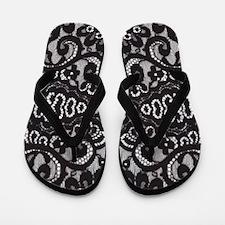 modern girly vintage lace Flip Flops