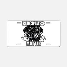 BLACK LABS MATTER 2 Aluminum License Plate