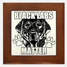 BLACK LABS MATTER 2 Framed Tile