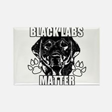 BLACK LABS MATTER 2 Rectangle Magnet