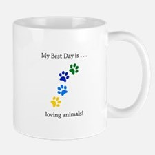 Best Day Loving Animals Paws Mugs