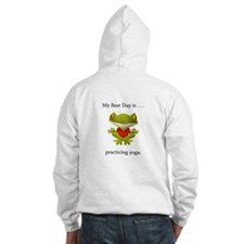 Best Day Frog Yoga Gifts Hoodie
