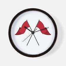 Color Guard Flags Wall Clock