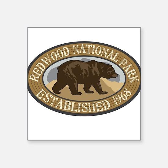 "Cute National forest in california Square Sticker 3"" x 3"""