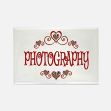 Photography Hearts Rectangle Magnet