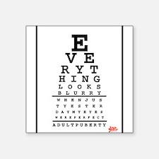 Adult Puberty Eye Chart Sticker