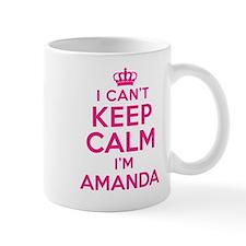 Can't Keep Calm Amanda Mugs