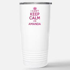 Can't Keep Calm Amanda Travel Mug