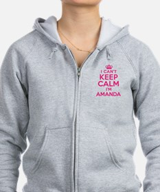 Can't Keep Calm Amanda Zip Hoodie