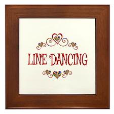 Line Dancing Hearts Framed Tile