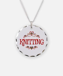 Knitting Hearts Necklace
