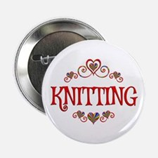 "Knitting Hearts 2.25"" Button"