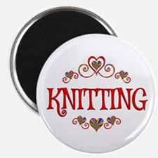 Knitting Hearts Magnet