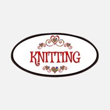 Knitting Hearts Patch