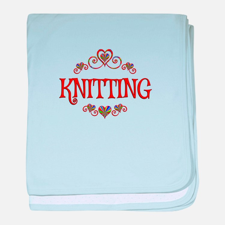 Knitting Hearts baby blanket