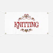 Knitting Hearts Banner