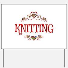 Knitting Hearts Yard Sign