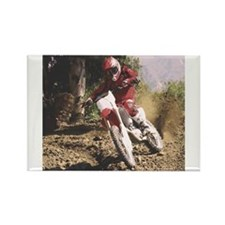 Cool Bike rider Rectangle Magnet