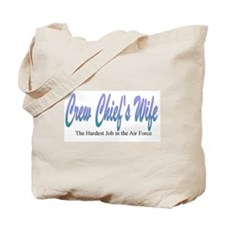 Crew Chief's Wife, Purple Tote Bag