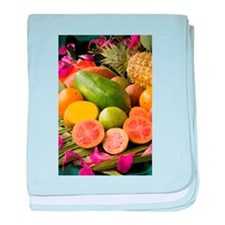 Tropical Fruits baby blanket