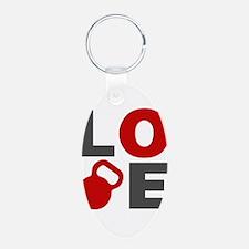 Love Kettlebell Keychains