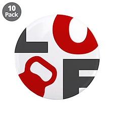 """Love Kettlebell 3.5"""" Button (10 pack)"""