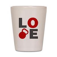 Love Kettlebell Shot Glass