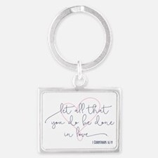 Done in Love Landscape Keychain