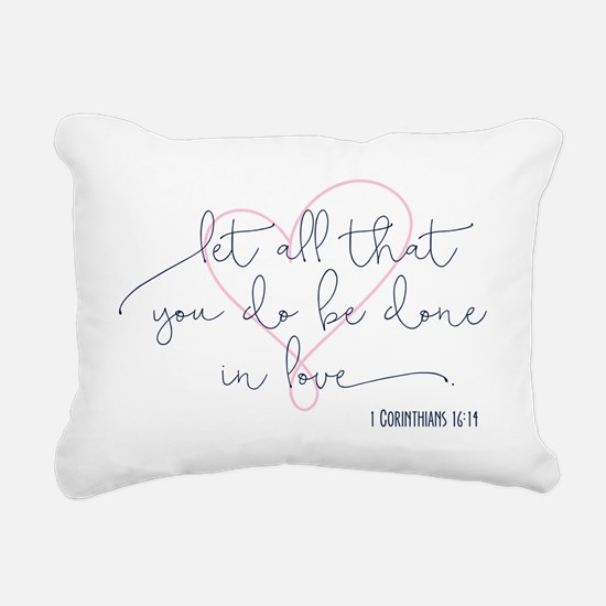 Done in Love Rectangular Canvas Pillow